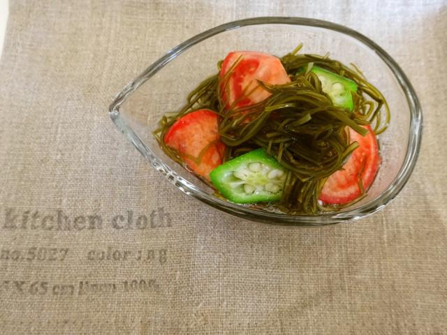 レシピ とろみこんぶ トマトおくら